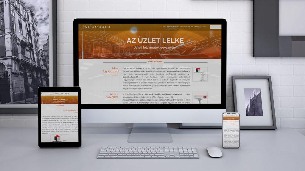 Soulware weboldal 3 méretben